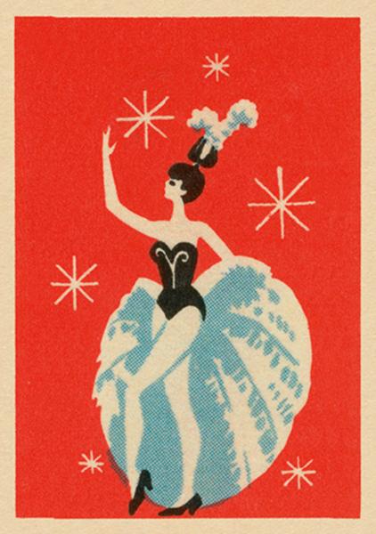 funky quirky unusual modern cool card cards greetings greeting original classic wacky contemporary art illustration fun vintage retro art-presss vintage matchbox jane mcdevitt performer