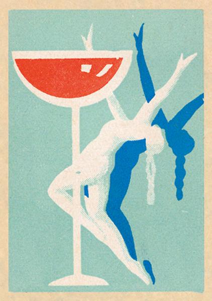 funky quirky unusual modern cool card cards greetings greeting original classic wacky contemporary art illustration fun vintage retro dancing performer art-press jane mcdevitt vintage matchbox