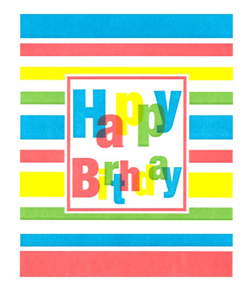 Birthday funky quirky unusual modern cool card cards greetings greeting original classic wacky contemporary art illustration fun vintage retro letterpress happy birthday lines Archivist-Cards