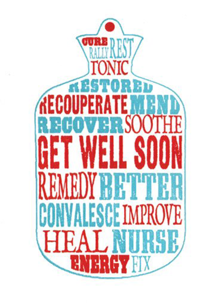 get well soon Archivist-Cards hot water bottle