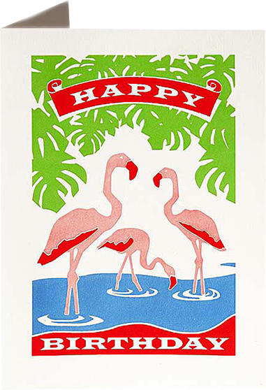 birthday flamingo Archivist-Cards