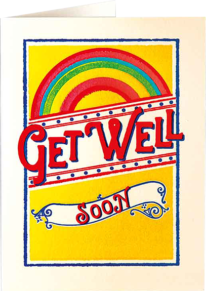 Birthday funky quirky unusual modern cool card cards greetings greeting original classic wacky contemporary art illustration fun vintage retro letterpress get well soon rainbow Archivist-Cards