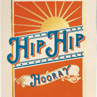 Birthday funky quirky unusual modern cool card cards greetings greeting original classic wacky contemporary art illustration fun vintage retro letterpress hip hooray sunburst Archivist-Cards