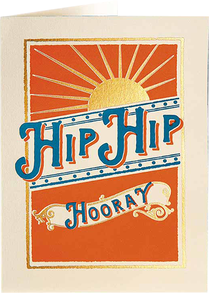 Birthday funky quirky unusual modern cool card cards greetings greeting original classic wacky contemporary art illustration fun vintage retro letterpress hip hooray sunburst Archivist-Cards