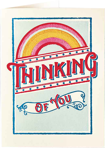 funky quirky unusual modern cool card cards greetings greeting original classic wacky contemporary art illustration fun vintage retro letterpress thinking of you sympathy Archivist-Cards rainbow