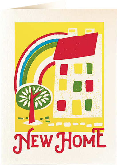 funky quirky unusual modern cool card cards greetings greeting original classic wacky contemporary art illustration fun vintage retro letterpress new home Archivist-Cards house