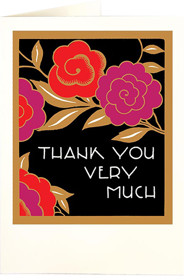 Birthday funky quirky unusual modern cool card cards greetings greeting original classic wacky contemporary art illustration fun vintage retro letterpress thank you Archivist-Cards flowers