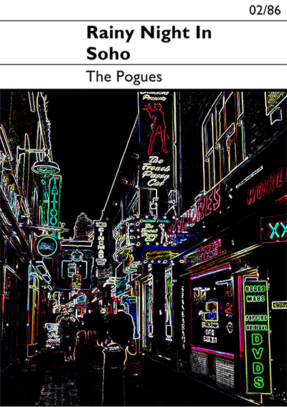 funky quirky unusual modern cool card cards greetings greeting original classic wacky contemporary art illustration photographic rainy night in soho the Pogues east end prints indie prints art