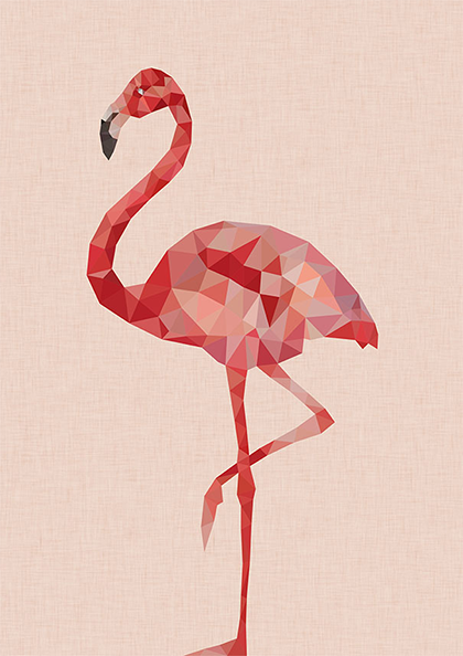 funky quirky unusual modern cool card cards greetings greeting original classic wacky contemporary art illustration photographic flamingo east-end-prints studio-cockatoo art