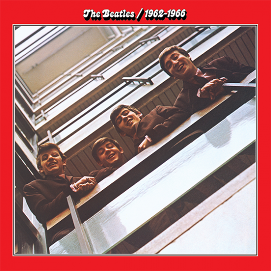 beatles 1962 1966 red album cover music hype-cards