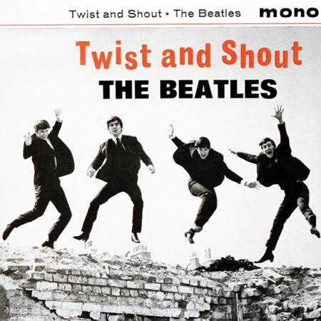 beatles twist shout album cover hype-cards
