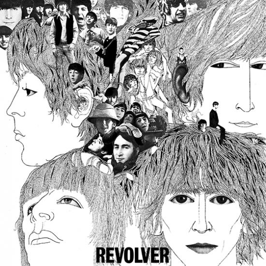 revolver beatles album cover music hype-cards