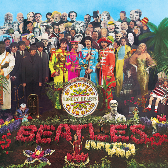 sergeant pepper's lonely heart's club band beatles music album cover hype-cards