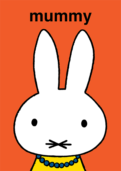 bunny rabbit funky quirky unusual modern cool card cards greetings greeting original classic wacky contemporary art illustration photographic vintage retro kids book mummy mothers day hype-cards dick-bruna miffy