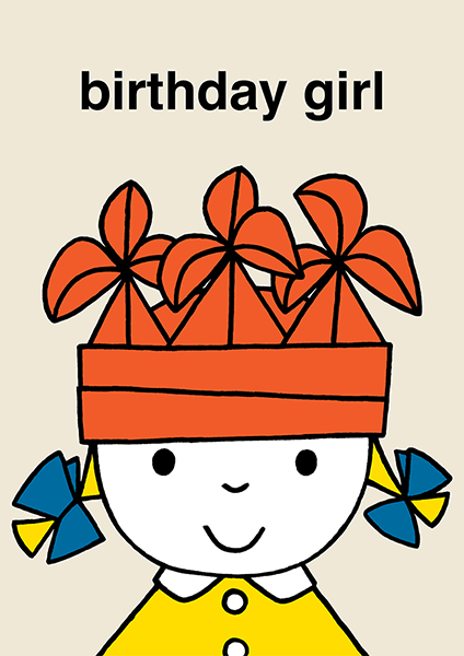 dick-bruna miffy birthday girl kids hype-cards funky quirky unusual modern cool card cards greetings greeting original classic wacky contemporary art illustration photographic vintage retro kids book