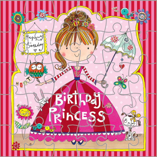 funky quirky unusual modern cool card cards greetings greeting original classic wacky contemporary art illustration fun cute kid children pretty rachel ellen kids birthday princess