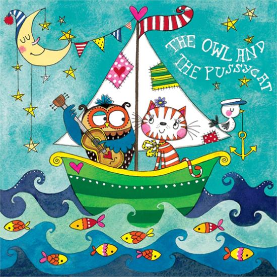 funky quirky unusual modern cool card cards greetings greeting original classic wacky contemporary art illustration fun cute kid children rachel ellen jigsaw birthday kids owl pussycat