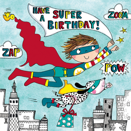 funky quirky unusual modern cool card cards greetings greeting original classic wacky contemporary art illustration fun cute kid children superhero kids birthday cute jigsaw rachel ellen