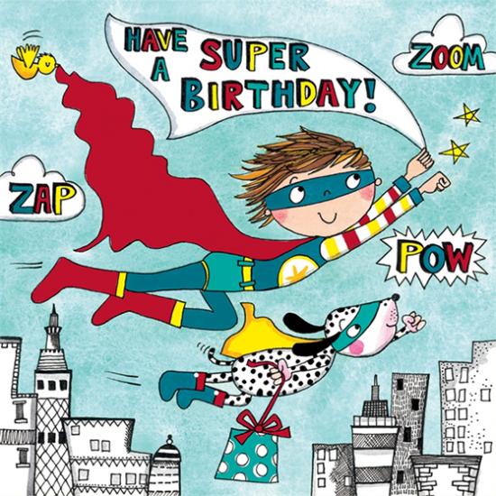 funky quirky unusual modern cool card cards greetings greeting original classic wacky contemporary art illustration fun cute kid children superhero kids birthday cute jigsaw rachel ellen