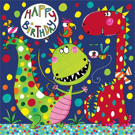 rachel ellen jigsaw kids birthday dinosaur funky quirky unusual modern cool card cards greetings greeting original classic wacky contemporary art illustration fun cute children kid