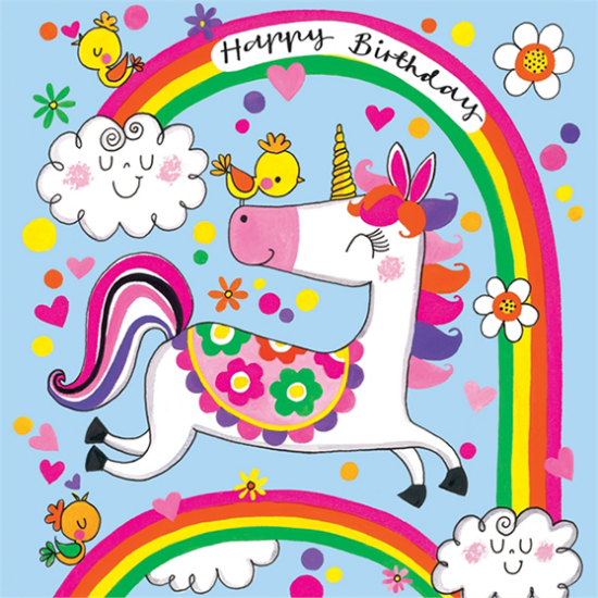 funky quirky unusual modern cool card cards greetings greeting original classic wacky contemporary art illustration fun rachel ellen jigsaw cute birthday kids unicorn