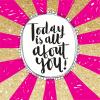funky quirky unusual modern cool card cards greetings greeting original classic wacky contemporary art illustration fun cute glitter gold neon rachel ellen flitter sparkling gold