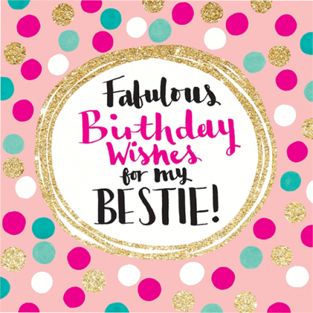 funky quirky unusual modern cool card cards greetings greeting original classic wacky contemporary art illustration fun cute glitter gold neon fabulous birthday wishes bestie flitter rachel ellen sparkling gold