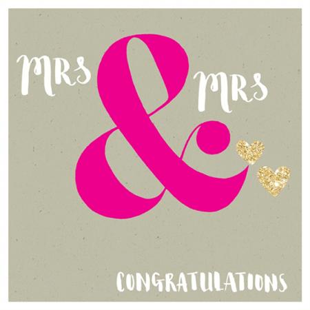 mrs gay wedding congratulations rachel ellen flitter gold sparkling