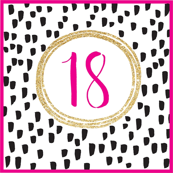 18 With Sparkles Malarkey Cards
