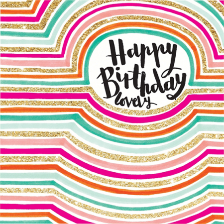 funky quirky unusual modern cool card cards greetings greeting original classic wacky contemporary art illustration fun cute glitter gold neon happy birthday lovely rachel ellen gold flitter