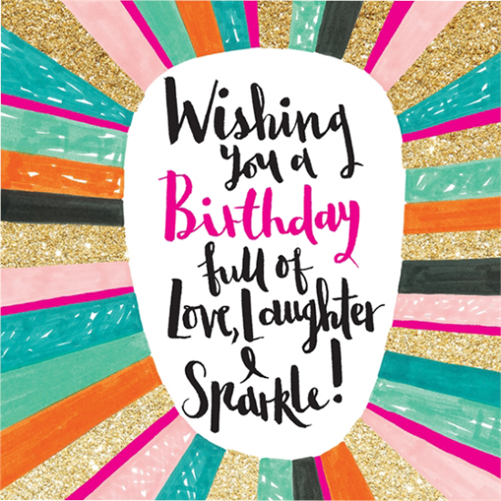 funky quirky unusual modern cool card cards greetings greeting original classic wacky contemporary art illustration fun cute glitter gold neon birthday love laughter sparkles rachel ellen gold flitter sparkling