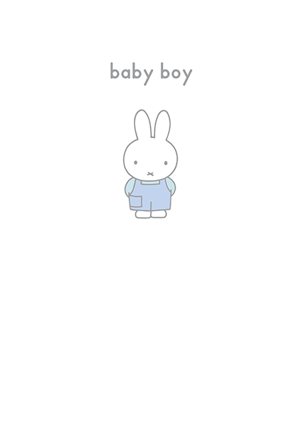 bunny rabbit funky quirky unusual modern cool card cards greetings greeting original classic wacky contemporary art illustration photographic vintage retro kids book miffy baby boy dick-bruna