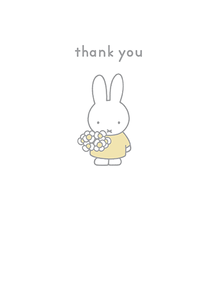 bunny rabbit funky quirky unusual modern cool card cards greetings greeting original classic wacky contemporary art illustration photographic vintage retro kids book miffy thank-you hype-cards dick-bruna