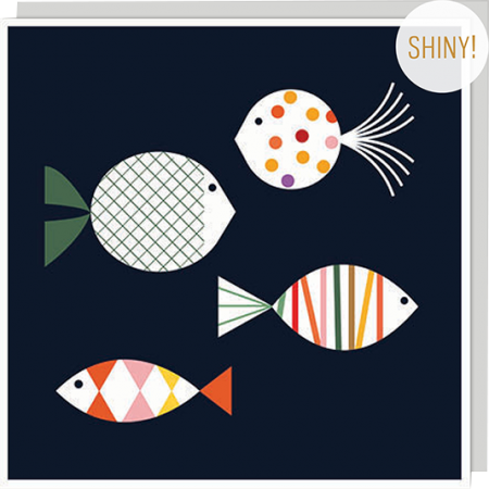 fish bits blanca gomez u-studio Birthday funky quirky unusual modern cool card cards greetings greeting original classic wacky contemporary art illustration fun vintage retro