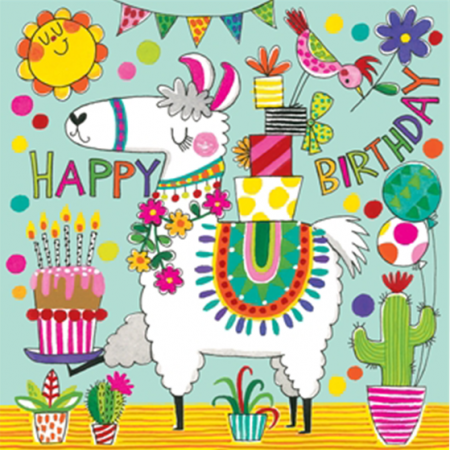 kids jigsaw birthday llama Rachel-ellen funky quirky unusual modern cool card cards greetings greeting original classic wacky contemporary art illustration fun cute