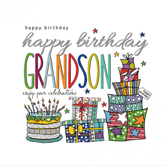 funky quirky unusual modern cool card cards greetings greeting original classic wacky contemporary art illustration fun happy birthday grandson two-little-monkeys