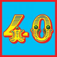 Birthday funky quirky unusual modern cool card cards greetings greeting original classic wacky contemporary art illustration fun vintage retro malarkey Brighton malarkey-cards 40 40th fortieth forty circus