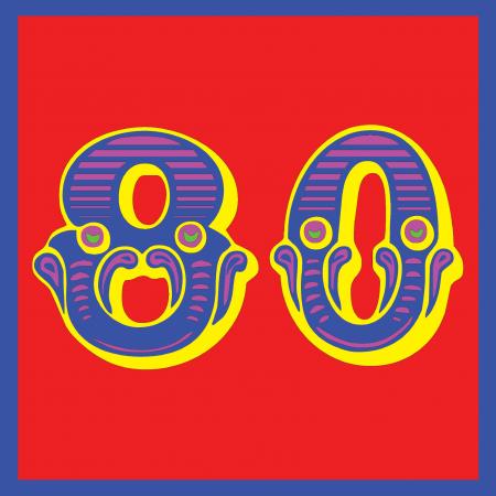 funky quirky unusual modern cool card cards greetings greeting original classic wacky contemporary art illustration photographic vintage retro kids malarkey-cards circus ringmaster birthday age circus 80 eighty eightieth 80th malarkey Brighton