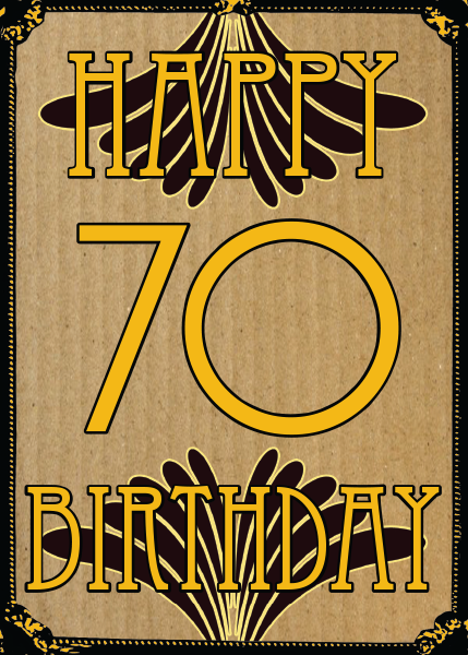 Birthday funky quirky unusual modern cool card cards greetings greeting original classic wacky contemporary art illustration fun vintage retro malarkey Brighton 70 70th seventy seventieth