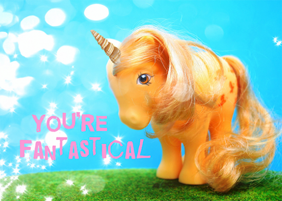 funky quirky unusual modern cool card cards greetings greeting original classic wacky contemporary art illustration photographic distinctive vintage retro toypincher humourous funny fantastical unicorn my-little-pony