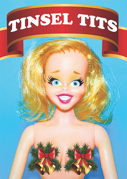funky quirky unusual modern cool card cards greetings greeting original classic wacky contemporary art illustration photographic distinctive vintage retro Christmas xmas toypincher humourous funny tinsel tits
