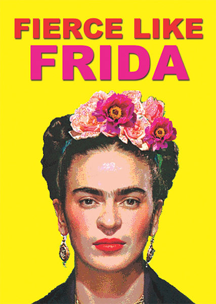 funky quirky unusual modern cool card cards greetings greeting original classic wacky contemporary art illustration photographic distinctive vintage retro toypincher frida-kahlo fierce frida