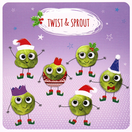 funky quirky unusual modern cool card cards greetings greeting original classic wacky contemporary art illustration photographic distinctive vintage retro Paperlink Christmas xmas Froot-Loop humourous funny twist and shout sprout Brussels