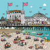funky quirky unusual modern cool card cards greetings greeting original classic wacky contemporary art illustration photographic vintage retro brighton Lisa holdcroft pier beach seaside