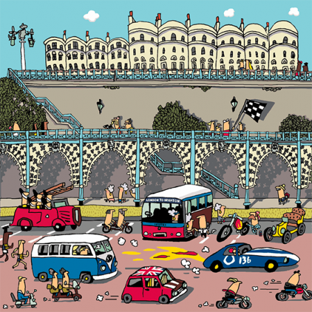 funky quirky unusual modern cool card cards greetings greeting original classic wacky contemporary art illustration photographic vintage retro brighton Lisa holdcroft madeira terrace