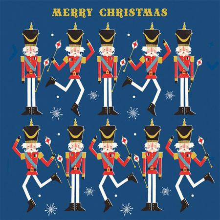 funky quirky unusual modern cool card cards greetings greeting original classic wacky contemporary art illustration photographic distinctive vintage retro Christmas xmas The-art-file charity clic-sargent cancer nutcracker