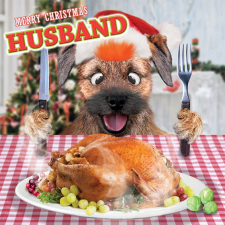 funky quirky unusual modern cool card cards greetings greeting original classic wacky contemporary art illustration photographic distinctive vintage retro Christmas xmas Tracks googly-eyes fluff funny husband dog turkey