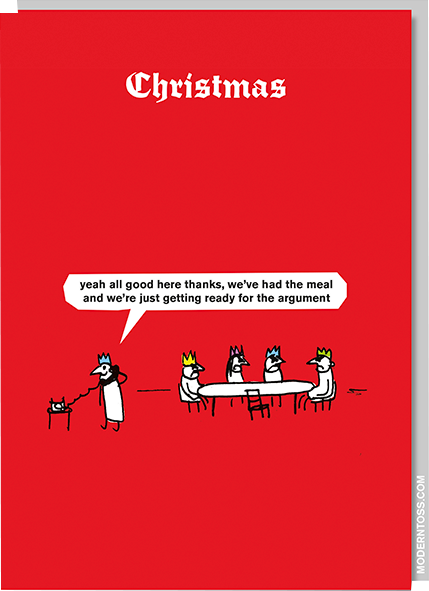 funky quirky unusual modern cool card cards greetings greeting original classic wacky contemporary art illustration photographic distinctive vintage retro Christmas xmas modern-toss funny rude humorous argument