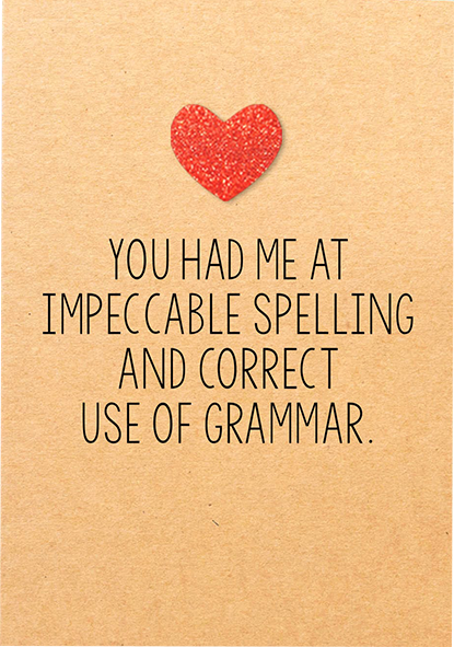 funky quirky unusual modern cool card cards greetings greeting original classic wacky contemporary art illustration photographic distinctive vintage retro humourous funny Bettie-Confetti valentine valentine's-day red glitter heart impeccable spelling grammar