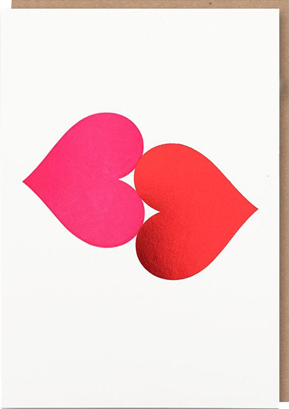 funky quirky unusual modern cool card cards greetings greeting original classic wacky contemporary art illustration photographic distinctive vintage retro humourous funny 1973 nineteen seventy three valentine valentine's-day letterpress love foil heart red pink